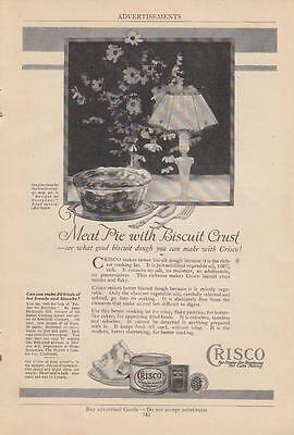 1921 Crisco Shortening Proctor & Gamble Co Ad: Meat Pie With Biscuit Crust