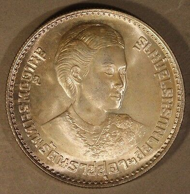 1977 (2520) Thailand 150 Baht Silver Coin Unc. Toned   ** FREE U.S. SHIPPING **