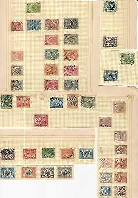 Haiti: Lot of 75 different stamps on sheets of paper used and unused.... HA04