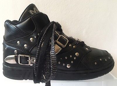 Leather Stud Shoes Boots MICHAEL JACKSON LA GEAR Hi Top Trainers Sneakers 5 7 38