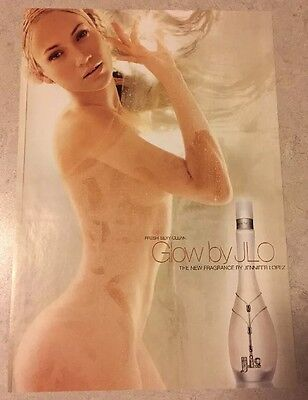 JENNIFER LOPEZ Glow By J.Lo Magazine Print Ad Fragrance Strip Attached