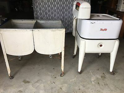 Vintage Maytag Wringer Washer w/ Ideal Rinse Tubs WILL SHIP!!