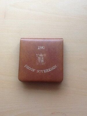 1981 Proof Full Gold Sovereign Boxed With Coa