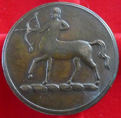 """Very Rare c1803-16 Theatre token - Centaur """"P"""" for PIT not in D&W ; Withers 521"""