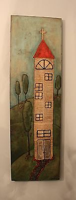 ORIGINAL PAINTING TOWER BY GRITTY JANE SPAKOWSKY (DesROSIER)