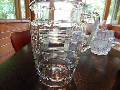 Anchor Hocking BANDED RINGS 80 oz. Pitcher c.1927-1933 EXCELLENT CONDITION