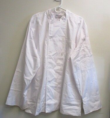 CHEF WORKS ~ White Chef Jacket Cook Coat ~ LARGE ~ RC 2370