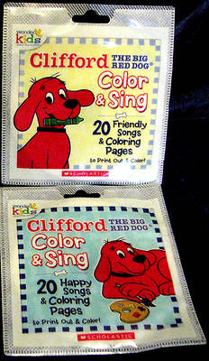 NEW Clifford the Big Red Dog Color & Sing Songs + Coloring Pages Happy Friendly
