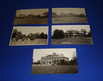 vintage postcard-chesterton lodge-x 5-nr. bicester-oxfordshire-rare.