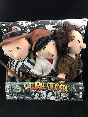 The Three Stooges Animated Golf Theme Toy Bean Bag Collectibles Plush Figures