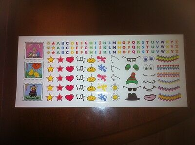 easter seal stickers sheet 2001