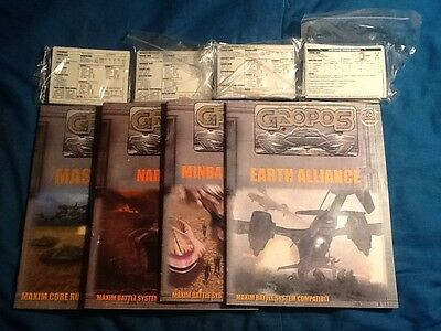 GROPOS Master Book, 3 Nation Books, Battle Cards Lot Babylon 5 Agents of Gaming