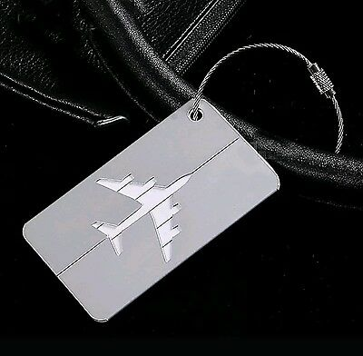 United Airlines Luggage Tag Metal NEW