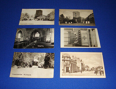 vintage postcard-x6-chesterton church-vicarage-sheep st.-bicester-oxfordshire.