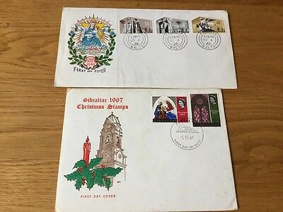 Christmas First Day Covers ,Malta 1967,1968.