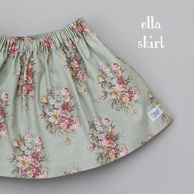 BN Girls Designer floral summer skirt, 6-12mths RRP£19 NEW