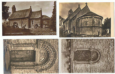 4 Unused Vintage Sepia P/Cs Kilpeck Church, Hereford