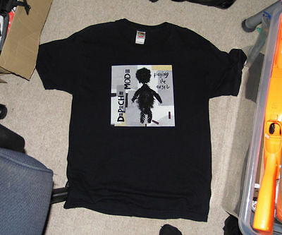 Depeche Mode - DM - Playing the Angel - Black T-Shirt 2005 - Size UK Large