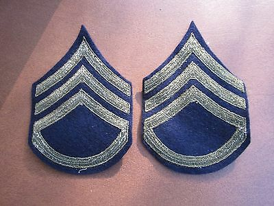 US Army Staff Sergeant Enlisted Rank Insignia patch pair