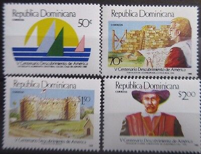 Dominican Republic 1988 500th Anniv of Discovery of America Set. MNH.