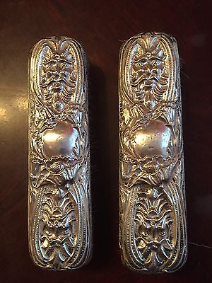 Pair Of Antique Silver Backed Clothes Brush 1910,Hayes & Co