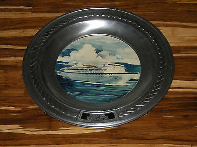 Goodyear Company Award Plate - MS Sun Viking Cruise Ship Old Metal Sign Numbered