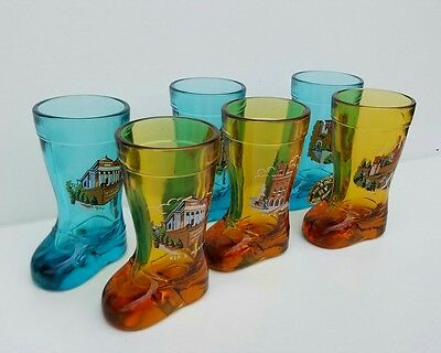 retro shot glasses old boot shaped retro vintage kitch novelty gifts.