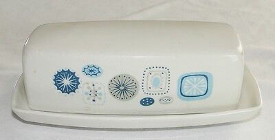 Franciscan Del Mar Butter Dish and Lid Made in USA HTF