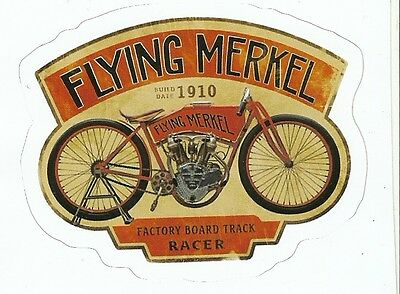 FLYING MERKEL  MOTORCYCLE Sticker Decal