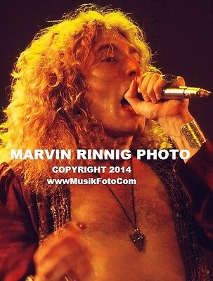 "LED ZEPPELIN PHOTO - ROBERT PLANT - JIMMY PAGE 1972 8x11"" RARE PHOTO - SALE"