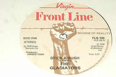 "The Gladiators ‎– Stick A Bush 7""       1978   REGGAE...NEAR MINT!!    RARE!!"