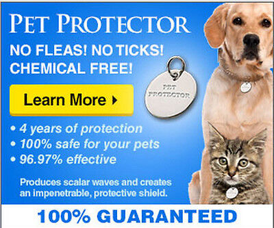 Pet Protector flea, tick,& mosquito repellant disc for all dogs and cats