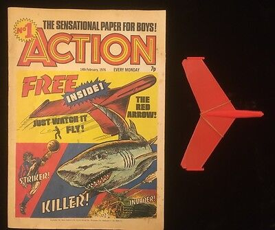 Action Comic #1 - 14th Feb 1976 - Complete with Free Gift - First App Hookjaw