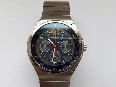Gents Iwc Porsche Design Chronograph Moonphase Titanium Quartz Swiss Wrist Watch