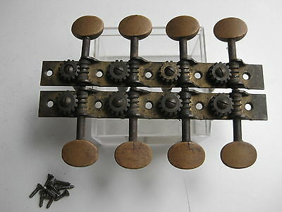 Vintage Fairbanks Vega Jupiter Mandolin Brass Tuners Pegs Set for Project