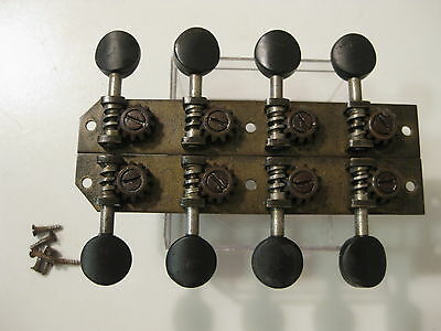 Vintage Washburn Mandolin Brass Tuners Pegs Set for Project / Repair #2