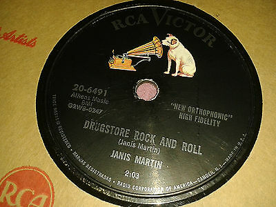 JANIS MARTIN : DRUGSTORE ROCK AND ROLL  /  WILL YOU, WILLYUM.  US 78 rpm (1956)