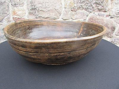 Large Wooden Treen Bowl c.1750-1800
