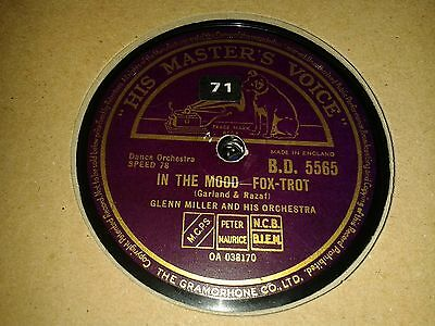 GLENN MILLER & His Orchestra : IN THE MOOD  /  OUT OF SPACE.  UK.78 rpm (1940)