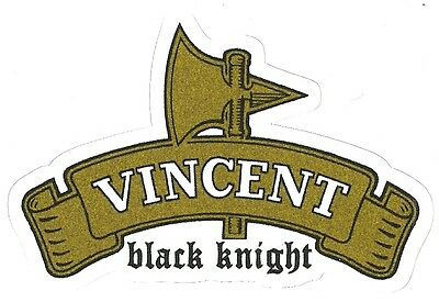 VINCENT BLACK KNIGHT MOTORCYCLE Sticker Decal