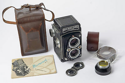 MPP Microcord TLR Camera + Case Yellow filter & Lens Hood Lens Cap & Instruction