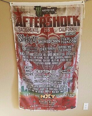 Slipknot Scroll Heavy Metal Flag Cloth Poster Aftershock lineup Marlyn Manson