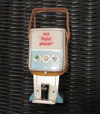 Pepsi collectible novelty transistor radio - Countertop dispenser style WORKING