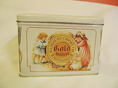 Vintage Gold Medal Flour Recipe Box/Tin Dated 1993~The Tin Box Co.~Low Shipping
