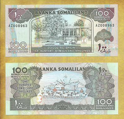 Somaliland 100 Shillings 1996 Unc Currency Note P-5b ***USA SELLER***