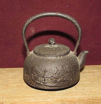 Old or Antique Japanese Iron Teapot Small Size