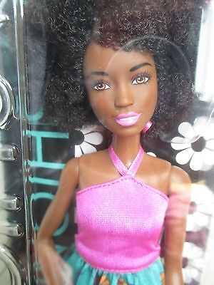 NEW SHE IS IN ! Barbie Fashionistas 59 Pink Halter Floral Skirt Doll