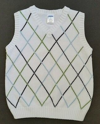 EUC Gymboree boys white vest-3T