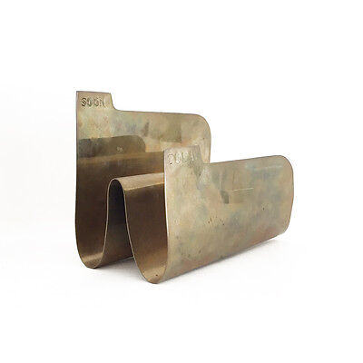 vintage mid century brass TODAY SOON letter holder mail maryam nassir zadeh 60s