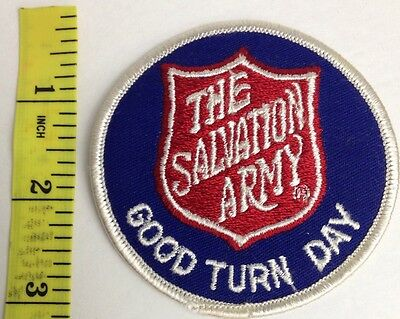 "Vintage The Salvation Army  GOOD TURN DAY Collectible Patch 3"" round"